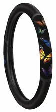 MONARCH BUTTERFLY STEERING WHEEL COVER (BLACK) NEW