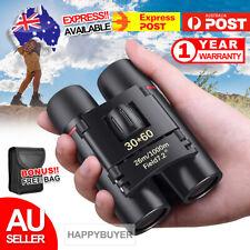 New Day Night Vision Binoculars 30 x 60 Zoom Outdoor Travel Folding Telescope AU