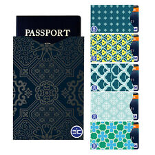 I3C RFID Blocking 5 Credit Card & 1 Passport Holder Protector Sleeves Green Gift