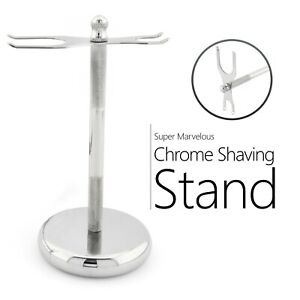 High Quality Stainless Steel Chrome Plated Shaving Razor and brush Stand