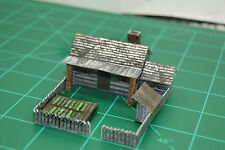 Homesteader LOG CABIN N Scale Building DIY Paper Cutout Kit