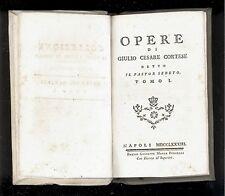CORTESE. Opere di Giulio Cesare Cortese detto ''Il Pastor Sebeto''