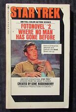1977 STAR TREK Fotonovel #2 Where No Man Has Gone Before FN- 5.5 Banta Paperback
