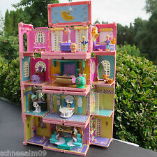 Mini Polly Pocket Puppenhaus Hochhaus Babyzimmer 4 Zimmer STAPELVILLA Mobille