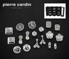 Pierre Cardin Set of 9 Hypoallergenic Earrings in Presentation Box PXE90082A