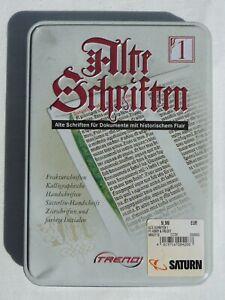 CD-ROM Alte Schriften Old Fonts Typefaces German Scripts - Windows 95 98 ME XP