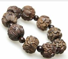 Rare eaglewood Carved lotus Men's woman Bracelet Bangle High Recommend
