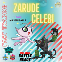 Zarude & Shiny Celebi 6IV Pokémon the Movie Coco Pokemon Sword & Shield TRADING