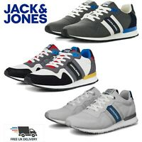 Jack & Jones Mens Trainers Fashion Walking Running Gym Lace Casual Sports Shoes