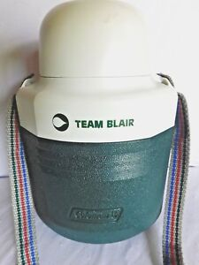 Coleman PolyLite Team Blair Thermos 5516 Beverage Cooler Container Strap Spout