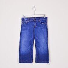 $158 Citizens Of Humanity Dark Bermuda Crop Capri Stretch Denim Jeans Shorts 28