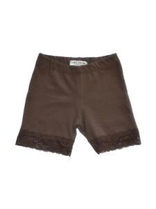 Vivian's Fashions Legging Shorts - Girls, Cotton, Lace Trim