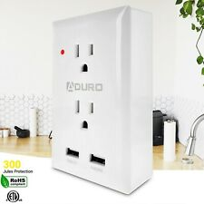 Aduro Surge Multi Charging Smart Station with 2 Outlets & Dual Wall USB Ports