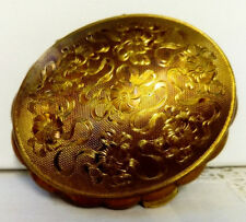 "1950s Vintage, Kigu Of London, Musical ""MINUET"" Gold Tone Make-Up Compact. VGC"