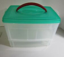 Plastic storage box crafts for ribbon and other Snapware