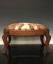 An Antique American Federal Furniture Footstool Bench