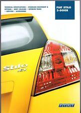 Fiat Stilo 3-dr Specification 2002 UK Market Brochure Active Dynamic Abarth
