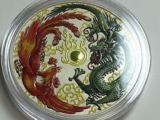 1 oz 999 Silver Silver Coin Dragon Dragon & Phoenix Phoenix 1$ Perth Mint COLOUR