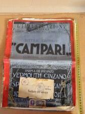 L'ILLUSTRAZIONE ITALIANA 1923 CON FRANCOBOLLI BOLLO VERIFICA CENSURA FRANCOBOLLO