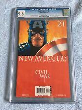 New Avengers #21 (Aug 2006 Marvel) CGC 9.6 CIVIL WAR CAPTAIN AMERICA Chaykin Cvr