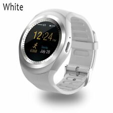 Bluetooth Y1 Smart Watch Phone Mate for Android IOS iPhone Samsung LG White