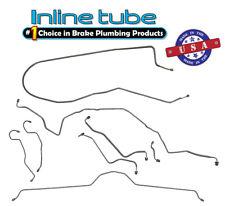 70-73 Chevrolet Corvette MANUAL Disc Complete Brake Line Kit Set 8pc OEM Steel
