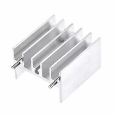 25x23x16mm To 220 Aluminum Heatsink For Transistor With 2 Pin Silver Tone 10pcs