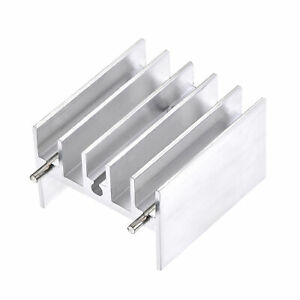 25x23x16mm TO-220 Aluminum Heatsink for Transistor with 2 Pin Silver Tone 10pcs