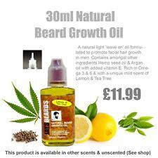 BEARD GROWTH OIL 30ml (Lemon & Tea Tree scent)  Same day 1st class postage*