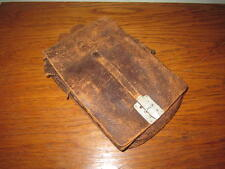WW2 German Luftwaffe M35 Leather Dispatch Map Case - EARLY - Aufkl.Gr. 24 RARE!