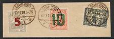Poland stamps 1919 MI 135+136 on fragment  CANC  VF