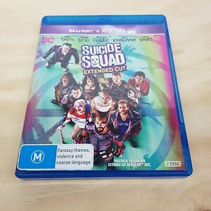 SUICIDE SQUAD EXTENDED CUT (2016) Blu ray Inc Explosive Extras  (Tracked Post)