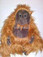 "Disney Parks Realistic Brown Monkey With Blue Eyes  18""  Plush Stuffed Animal"