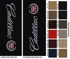 Lloyd Mats Cadillac Sideways Logo Velourtex Front Floor Mats (2002-2014)