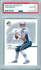 TOM BRADY 2002 SP AUTHENTIC #1 PSA 10
