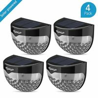 4PCS Super bright Solar Powered Wall Fence Lights LED Outdoor Garden Shed Lights