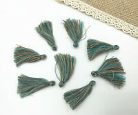100pcs Blue Muti color Small Cotton Thread Tassel Charm Pendant Tassels 30mm