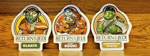 Star Wars: Return of the Jedi - 3x Vintage 3D Stickers 1983