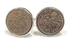 1953 Sixpence Coin Cufflinks Mens 65th Birthday Gift / Present / Anniversary