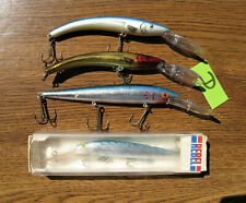 (4) fishing lures Reef Runner deep vintage Rebel Cordell Red Fin ex +++ cond  D