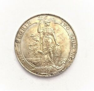 Edward VII  Florin  -  Two Shillings  1903  Unc