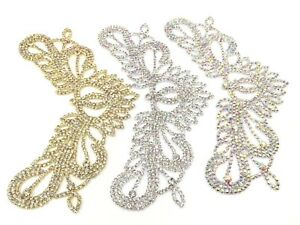 Stunning Rhinestone Applique Diamante patch For Bridal  Party Dresses Patch