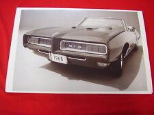 1968 PONTIAC GTO  CONVERTIBLE  BIG  11 X 17  PHOTO  PICTURE