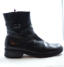 Clarks Ankle Boots Womens Size 8 Patent Leather Black