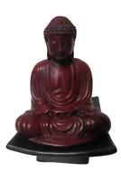 "China Tibet Shakyamuni Statue On Ceramic Base Pedestal Heavy Resin 7"" Tall"