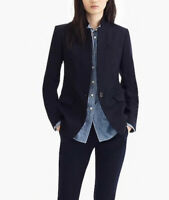 J. Crew Regent Blazer In Wool Flannel SZ 6 In Blue Navy Orig. Retail $228