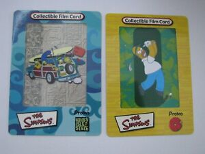 The Simpsons Cell Cards  Promo Card Set Homer Golf & Homey Isle Style Artbox A