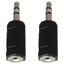 Presa 2.5mm a 3.5mm Mini Jack Spina Audio Stereo Convertitore Adattatore x 2