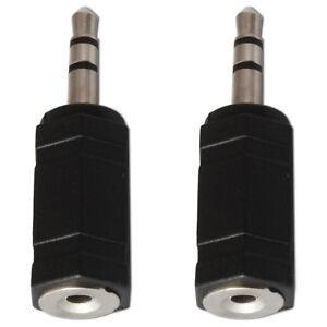 2.5mm Socket to 3.5mm Mini Jack Plug Stereo Audio Converter Adaptor x 2