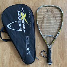 New listing HEAD Intelligence i.x180 Intellifiber Racquetball Racquet 3 7/8 Power Frame EUC